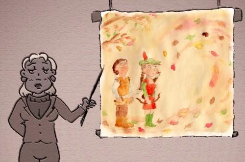 Superposition d'une aquarelle du carnet de bord sur une image réalisée pour le webdocumentaire. Florent Poussard, 08/04/13